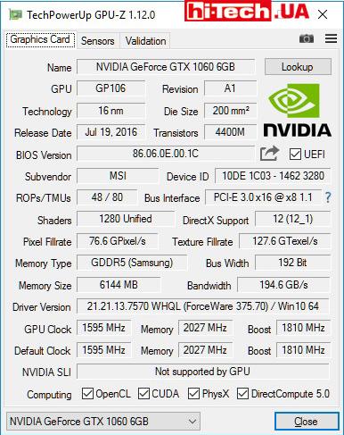 Обзор видеокарт на базе NVIDIA GeForce GTX 1060 от Inno3D