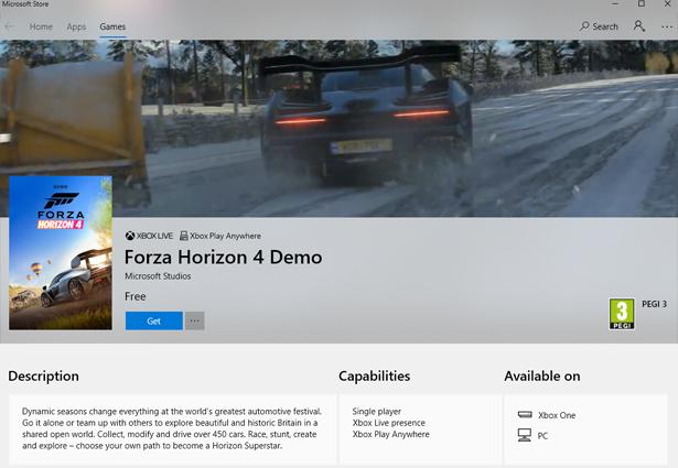 Скачать демо-версию Forza Horizon 4