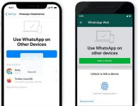 WhatsApp biometric scan