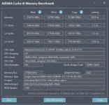 aida64 cache memory benchmark xmp
